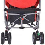 Poussette pour bébé inclinable en 5 positions en rouge