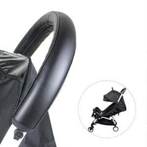 Ritapreaty Bébé Poussette Main Courante Etui Couverture Poussette Accoudoir Poignée Amovible Zipper en Cuir