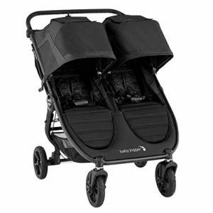 Baby Jogger 2111625 City Mini GT2 Double Poussette pliante pour tout terrain avec poussette légère Noir 18.59 kg