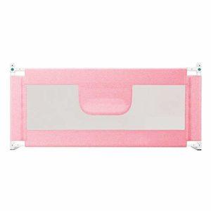 Barrière de lit HUO Guide pour lit Pliant Protection du lit de sécurité Gris, Rose, Bleu avec Housse 150cm Rose