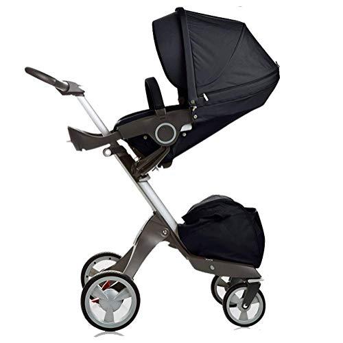 DOSNVG Poussette pour bébé, Poussette modulaire compacte, Landau de Ville, Parapluie Pliable, Poussette Assise et inclinée