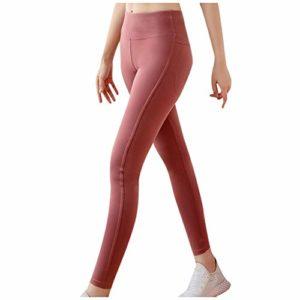 Fashion Ladies Pure Color Seamless Leggings Exercice élastique Fitness Fitness Running Yoga Pants – Push-up Legging Minceur – Pantalon de Yoga Leggins