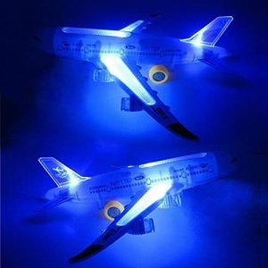 Grapfopk Multicolor Abs En Plastique Drôle 330 * 85 * 65 Mm Led Flare Lumières Flash Avion Jouet Son Avion Musique Éclairage Enfants Enfants Jouets