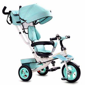HBSC Tricycles Enfants 3 en 1 Rotation à 360 ° du siège, Repose-Pieds Avant et Grand Panier de Rangement, Convient aux achats et aux Voyages, 1 à 6 Ans 1bicycle Cadeau Green