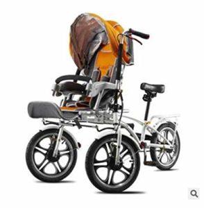 JARONOON Vélo Double Sièges, pour Mère et Bébé