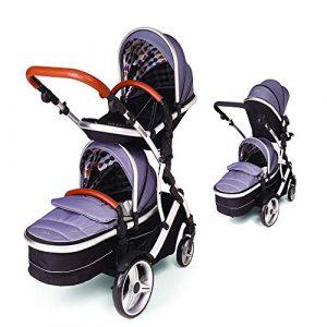 Kids Kargo Duellette 21 BS Combi Tandem Double Twin pushchair NEW COLOUR RANGE! Including Tanned Handle Pack(Dooglebug silver)
