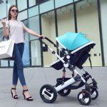 Landaus Double légère Poussette Tandem Seating, Poussette Parapluie Compact avec Ceintures de sécurité réglables et 5 Points Dossier, Pliable Anti-Shock Fournitures pour bébé ( Color : Blue )