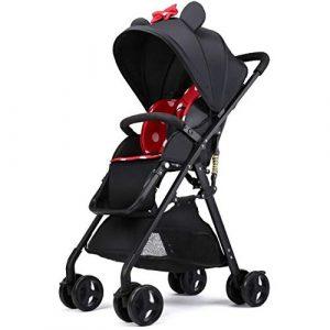 LITIAN Haute Paysage bébé Poussette Peut s'asseoir inclinable Pliant Ultra léger bébé Nouveau-né Enfant Quatre Roues Choc Voiture de bébé