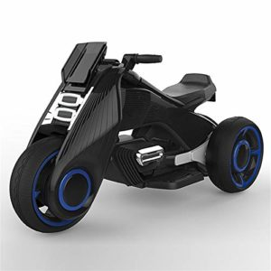 Motos électriques for enfants Voitures électriques hommes et femmes bébé Tricycles Voitures jouets for enfants Can Sit Personnes Enfants Toy Car bébé produit, (Color : Black)