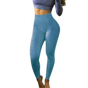 ❤Pantalon de Yoga Femmes Hip Seamless Jacquard Point Taille Haute Vitesse Pantalon Sec Fitness Yoga Pants Taille Haute Leggings de Gymnastique FroncéS Collants Abdominaux ContrôLe du Fessier