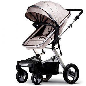 Poussette à quatre roues pliable bidirectionnelle pour bébé