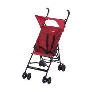 Safety 1st Peps + Canopy Poussette Canne Fixe, Légère, 6 mois à 3.5 ans, Ribbon Red Chic