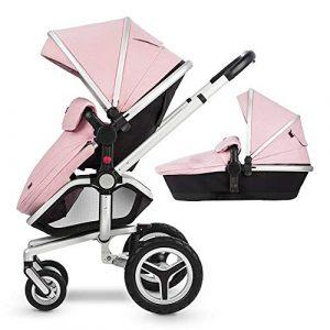 Système De Voyage Pliant De Luxe Pour Bébé Avec Ressorts Antichocs,Pink