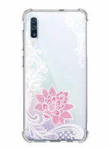 Suhctup Coque Comaptible avec Samsung Galaxy A81/M60S Étui Houssee,Transparent Motif Fleur [Antichoc Protection des Coins] Crystal Souple Silicone TPU Bumper Case Cover pour Galaxy A81/M60S,A5