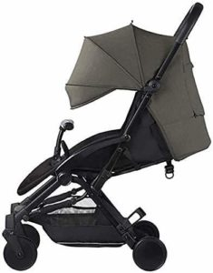 Cxjff Bébé Portable Panier, Umbrella Fold bébé lumière Solaire Haute capacité Confortable Panier Suspension Skylight (Color : Grey)
