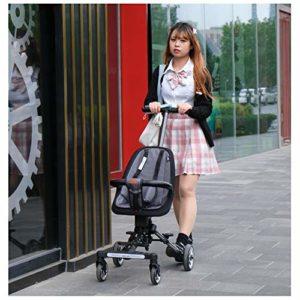 JKNMRL Chariots pliants, Chariots pour Enfants avec Housse en Tissu tricoté Amovible et Lavable et Ceinture à Pression à 3 Points