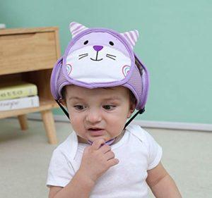 LZBB Bonnet respirant pour bébé – Casque de protection réglable – Pour apprendre à marcher – Pour enfants de 6 mois à 3 ans L b