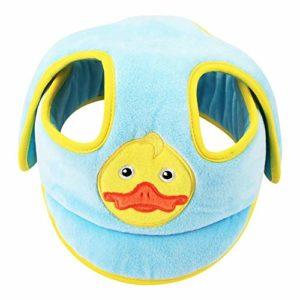 LZBB – Casquette anti-allures pour enfants – Protection de tête – Bonnet de sécurité pour bébé – Bonnet réglable et doux L Canard bleu.