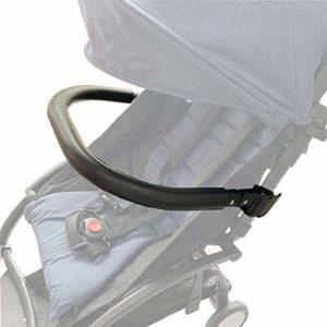 Barres pare-chocs pour poussette. Accoudoir en silicone noir adapté au landau bébé Yoyo/Bee. (Noir-silicone)