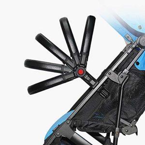 Barres de pare-chocs pour poussette 2020, accoudoirs universels, serrure universelle, convient pour différentes formes de supports de poussette (PU-Noir)