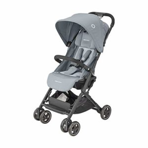 Bébé Confort Lara 2, Poussette légère ultra compacte, pliage facile, compatible cosis, de la naissance à 4 ans (0-22 kg), Essential Grey
