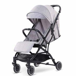 GYPPG Poussette pour bébé, poussettes Parapluie Poussette compacte Pliable pour Le Voyage, Poussette Pratique avec auvent surdimensionné/Pliage Facile à Une Main/Rangement Extra-larg