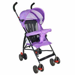 HZY Poussette Pliante Portable Ultra-Portable pour Enfants avec Poussette Bébé,Purple
