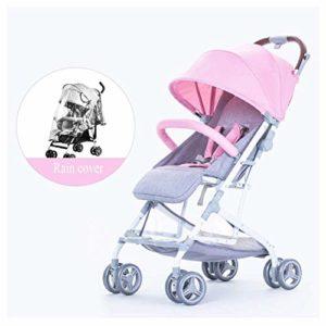 LLSS Poussette pour bébé Poussette pour bébé, Dossier réglable 100 & – 170 &, bébé Peut s'asseoir ou s'allonger à Plat, Facile à Plier et à Transporter, 0-3 Ans