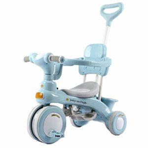 Poussette 3 en 1 pour tout-petits – Tricycle – Avec auvent – Siège de sécurité – Panier de rangement et pédales – Pour bébé garçons et filles de 6 à 18 mois