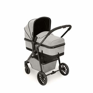 Poussette Ickle Bubba, système de voyage Moon 3 en 1 pour enfants | Forfait incl. Poussette arrière et avant, siège d'auto, nacelle, housse de pluie | gris clair