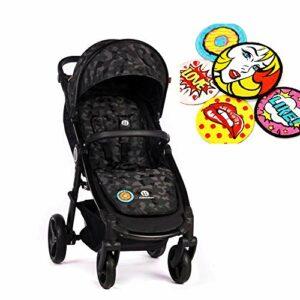 Petite&Mars Poussette de sport Street + Premium Line Fantasy – Pour enfants jusqu'à 22 kg (Pop Art).