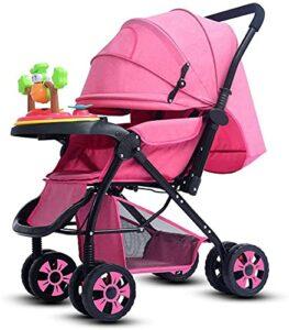 VIVOCC Poussette Jogger bébé |Poussette de bébé avec pneus Tout Terrain |Poussette légère Rapide, poignées en Mousse Noire (Couleur : Default)