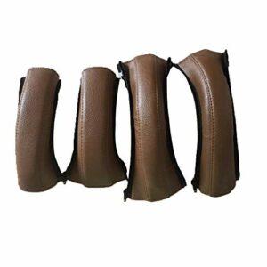 Housse de protection pour accoudoir de poussette, réglable, accessoires universels pour chariot, 4 noir/marron, robuste et durable (marron)